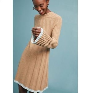 NWT Anthropologie Arsenal Beige Sweater Dress